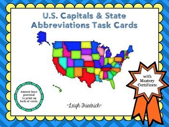 U.S. State Capitals and Abbreviations Bundle