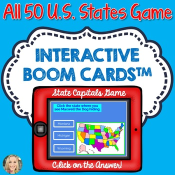 U.S. State Geography Boom Cards, Click to Play, Geography, Maps, Games