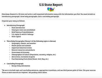 U.S. State Report