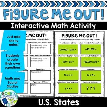 U.S. State Social Studies Activity Figure Me Out