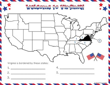 United States Research: Virginia (Printable AND Digital Options!)