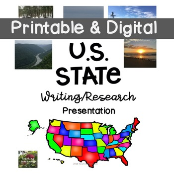 U.S. State Writing Research Lapbook (all 50 states included) #springintosavings