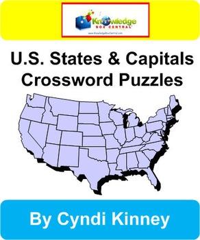 U.S. States & Capitals Crossword Puzzles