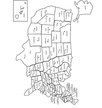 U.S. States & Capitals - Labeled & Blank Maps for Study and Practice ...