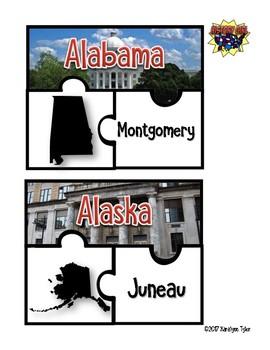 U.S. States & Capitals Puzzle Challenge