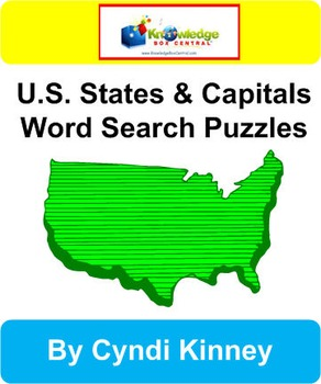U.S. States & Capitals Word Search Puzzles
