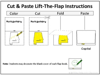 U.S. States | Lift-the-Flap | Cut & Paste | Activities