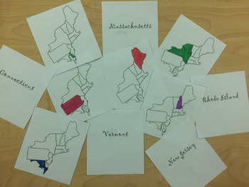 U.S. States Location Flashcards/Memory Game