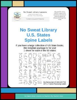 U.S. States Spine Labels