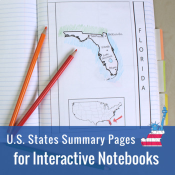 U.S. States Summaries for Interactive Notebooks