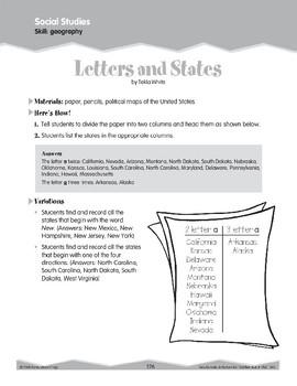 U.S. States (Ten-Minute Activities)