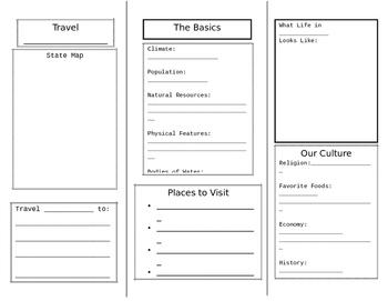 U.S. States Travel Brochure