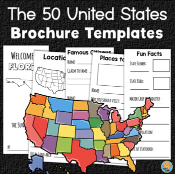 U.S. States Travel Brochure Template - All 50 States