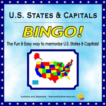 U.S. States and Capitals Bingo game - Fun & Easy Geography Study