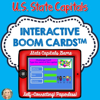 U.S. States and Capitals Boom Cards, Geography, Maps, Games by Cathy ...