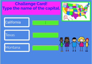 U.S. States and Capitals Boom Cards, Geography, Maps, Games