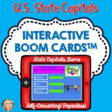 U.S. State Capitals Boom Cards, Geography, Maps, Games