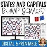 U.S. States and Capitals Bump Games