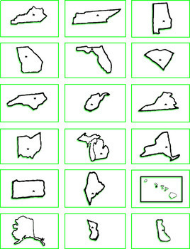 U.S. States and Capitals Flash Cards - Fun and Easy! - Geography Practice