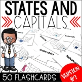 U.S. States and Capitals Flashcards Version #2 Without State Labels