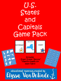 U.S. States and Capitals Game Pack