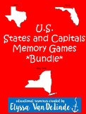 U.S. States and Capitals Memory Games Bundle