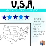 U.S. States and Capitals Quiz Pack