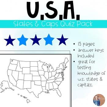 U.S. States and Capitals Quiz Pack