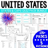 U.S. States and Capitals BIG Bundle-Quiz Packs AND Flash Cards