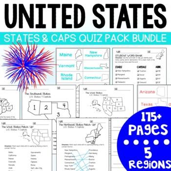 U.S. States and Capitals Quiz Pack- MEGA BUNDLE!