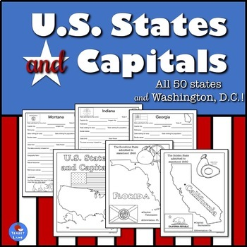 US States and Capitals Study