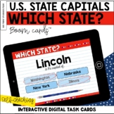 U.S. States and Capitals: Which State? BOOM Cards™