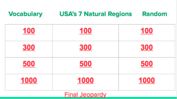 U.S. States and Regions
