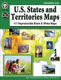 U.S. States and Territories Maps Grades 5-8 SALE 20% OFF 404248
