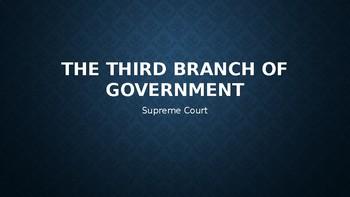 U.S. Supreme Court Power Point