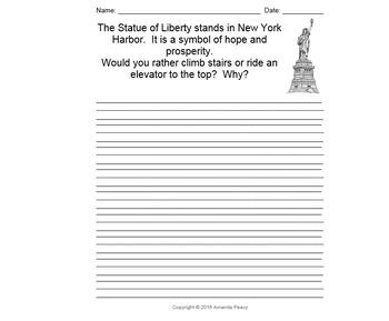 U.S. Symbol Writing Prompts