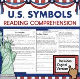 American Symbols Worksheets  Reading Passages US Symbols