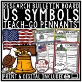 American Symbols Activity & US Symbols Research Teach- Go Pennants™