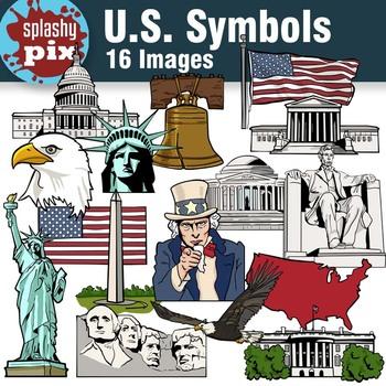 Us Symbols Clipart By Splashy Pix Teachers Pay Teachers
