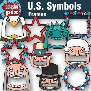 U.S. Symbols Frames Clipart