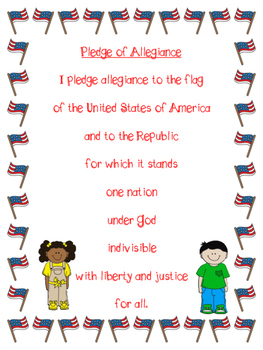 U.S Symbols and Pledge of Allegiance Anchor Charts