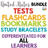 United States Tests Quizzes, Flashcards, Bracelets, Bookmarks {Mega-Bundle}