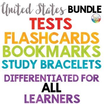United States Tests Quizzes, Flashcards, Bracelets, Bookmarks {Mega-Bundle}