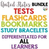 United States Regions Tests, Flashcards, Bracelets, Bookmarks {Mega-Bundle}