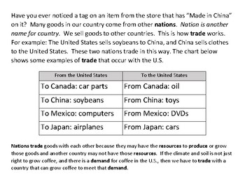 U.S. Trade Map and information