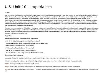 U.S. Unit 10 - Imperialism