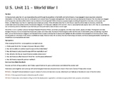 U.S. Unit 11 - World War I