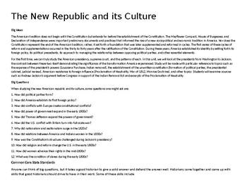 U.S. Unit 5 - The New Republic and its Culture