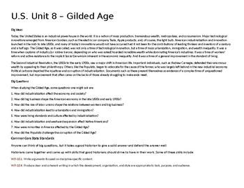 U.S. Unit 8 - Gilded Age