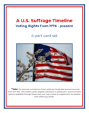 U.S. Voting Rights (Suffrage) Timeline - 4 part cards